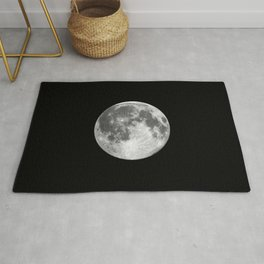 Full Moon print black-white photograph new lunar eclipse poster bedroom home wall decor Rug