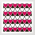 Abstract print with hearts Valentines Day love by fuzzyfox85