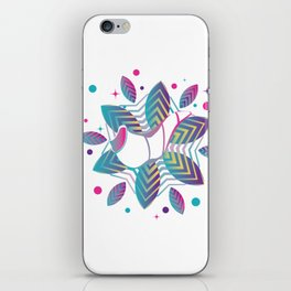 Colorful shofar with patterns iPhone Skin