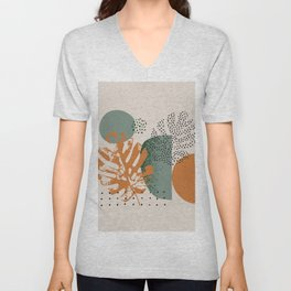 Abstract graphics summer background Unisex V-Neck