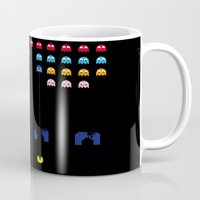 spaceman Mugs featuring Spaceman by Greg-guillemin