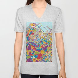 Cape Town South Africa City Street Map Unisex V-Neck