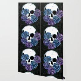 Skull + Roses Wallpaper