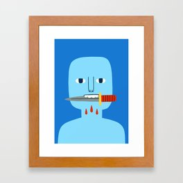 Bite Framed Art Print