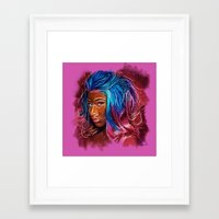 nicki Framed Art Prints featuring Painting Nicki by Tazmatic