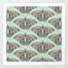 swallowtail butterfly mint basalt Art Print