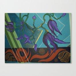 Antique Flower Collage Canvas Print