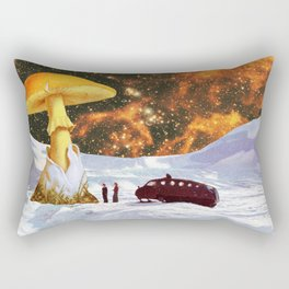Withe Planet Rectangular Pillow