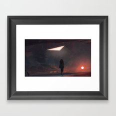 Sunsets with no hope Framed Art Print