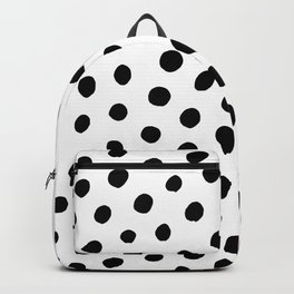 Black and White Dots Backpack