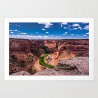 Canyon De Chelly River of Trees Art Print