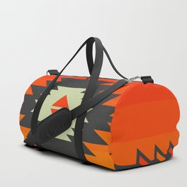 Southwestern in orange and red Duffle Bag