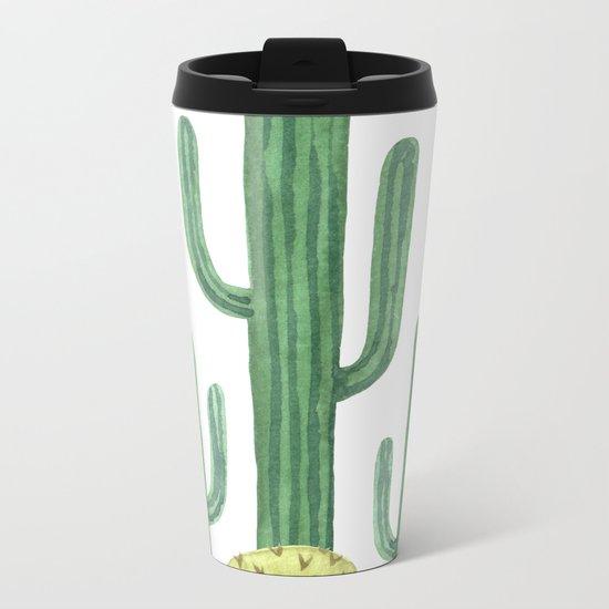 Classic Desert Cactus Metal Travel Mug