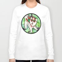 okami Long Sleeve T-shirts featuring Amaterasu from Okami 01 by Jazmine Phillips