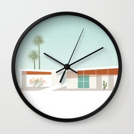 Palm Springs California Southwestern Style House with Cacti Wall Clock