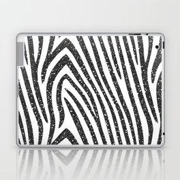 Black Glitter Zebra Stripes Laptop & iPad Skin