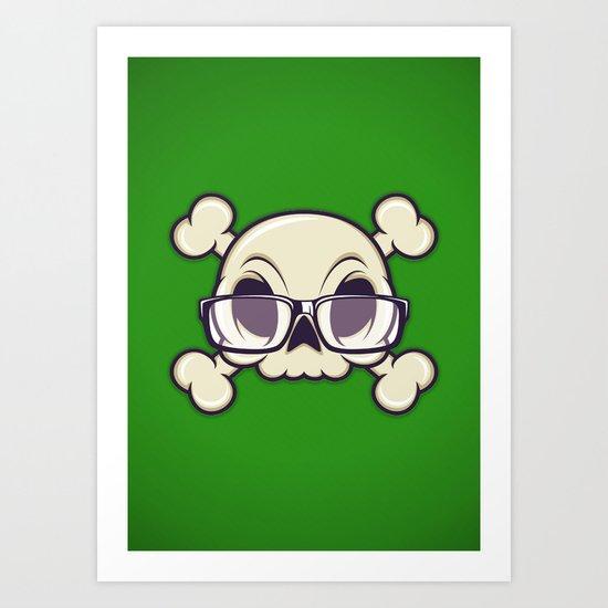 Nerd Skull Art Print