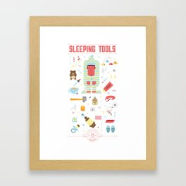 Sleeping tools Framed Art Print