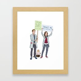 Fitzsimmons - Science March Framed Art Print