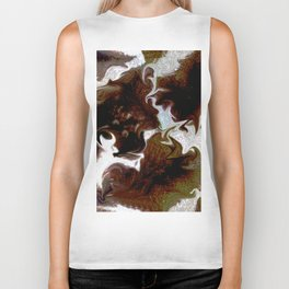 Neo animalic cow milky print Biker Tank