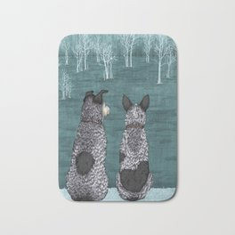 The Lookouts (Cattle Dogs) Bath Mat
