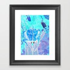 Pavomán (turkeyman) Framed Art Print