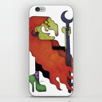 witch iPhone & iPod Skins featuring Witch by Iribú