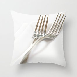 Fork&Napkin Throw Pillow