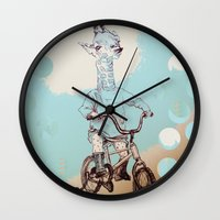 chile Wall Clocks featuring where you be chile? by Asia Fuse Dirty Tease