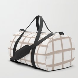 Strokes Grid - Nude on Off White Duffle Bag