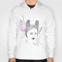 fashion illustration Hoodies featuring Fashion Illustration by ValeriaZ