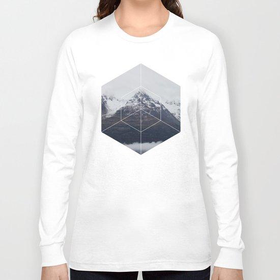 Snow Mountain - Geometric Photography Long Sleeve T-shirt