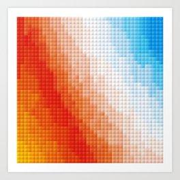 Square Color Space Art Print