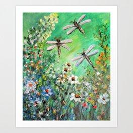 Dragonfly Summer Art Print