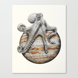 Celestial Cephalopod Canvas Print