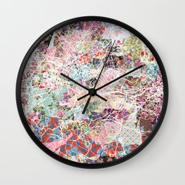 Florence map Wall Clock