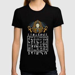 Egyptian Symbols Hieroglyphic Egypt Pharaoh History T-shirt