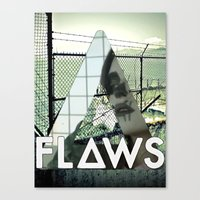 bastille Canvas Prints featuring Bastille - Flaws by Thafrayer
