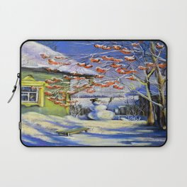 Morning snowman in the village Laptop Sleeve