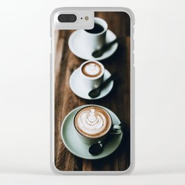 Latte III Clear iPhone Case