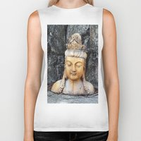 asian Biker Tanks featuring ASIAN GODDESS by JANUARY FROST