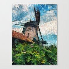 skatching windmill  Canvas Print
