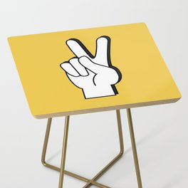 Peace Sign yellow Side Table