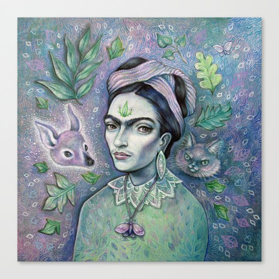 Magical Girl Frida Canvas Print