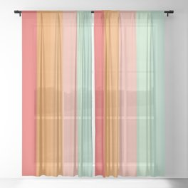 Vintage Rainbow Sheer Curtain