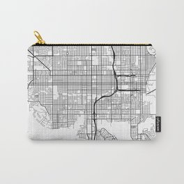 St Petersburg Map, USA - Black and White Carry-All Pouch