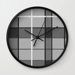 Gray Plaid Wall Clock