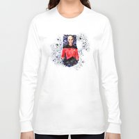 picard Long Sleeve T-shirts featuring Captain Picard Day by Lady Yate-xel