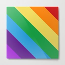 Rainbow flag Metal Print
