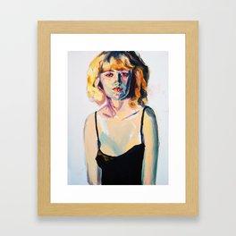Portrait of Hannah Black Framed Art Print